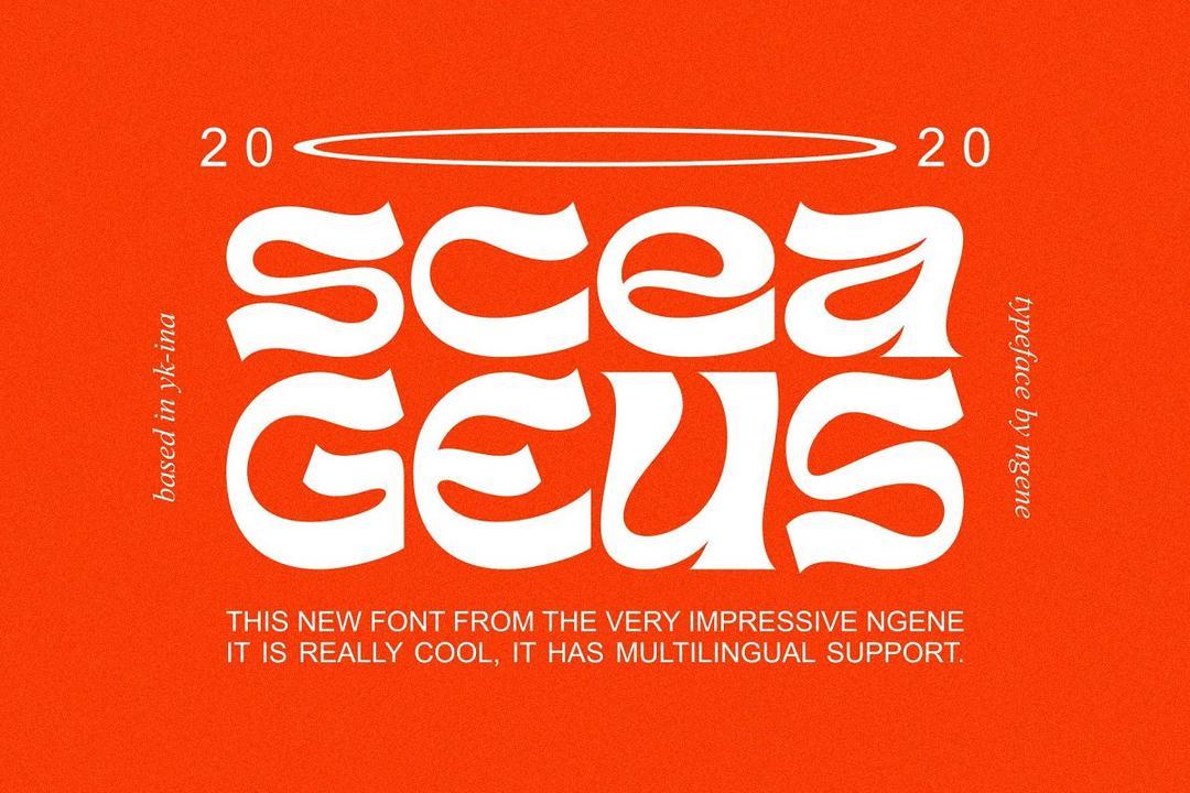 Sceageus Typeface 霸王字体