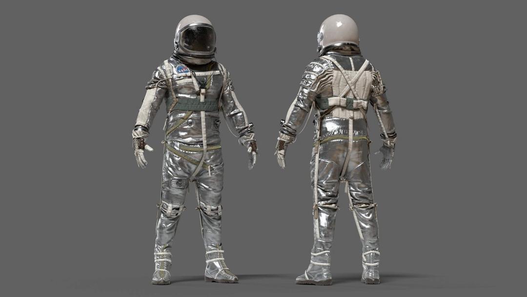 SPACESUIT NASA Mercury Navy Mark IV 3D model