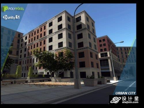 Urban City Pack v1.2 Unity超过100个城市3D建筑模型