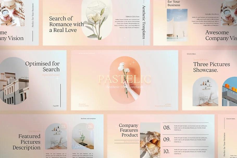 PASTELIC Powerpoint Templates 粉彩时尚PPT模板