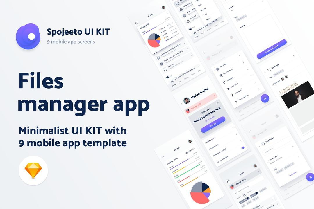 Spojeeto Kalender Mobile App UI KIT