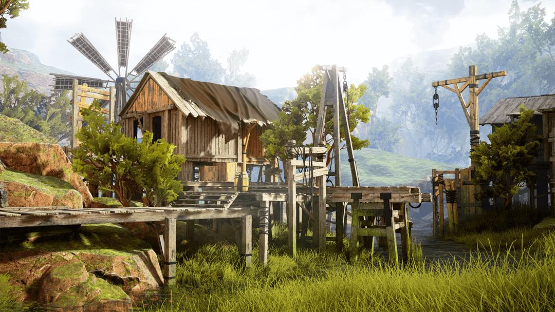 Modular Swamp Shack Pack 沼泽农村场景模型 农场建筑模型