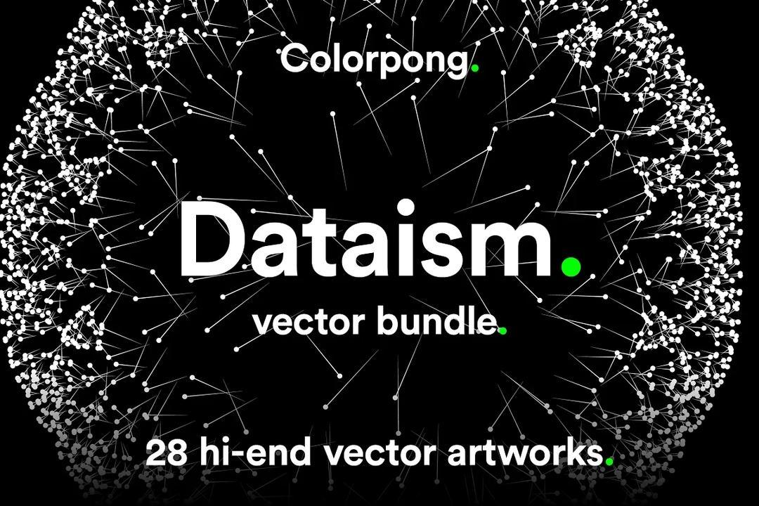 Dataism 数据主义矢量素材  大数据图标 人工智能 大数据概念素材 数据可视化矢量图