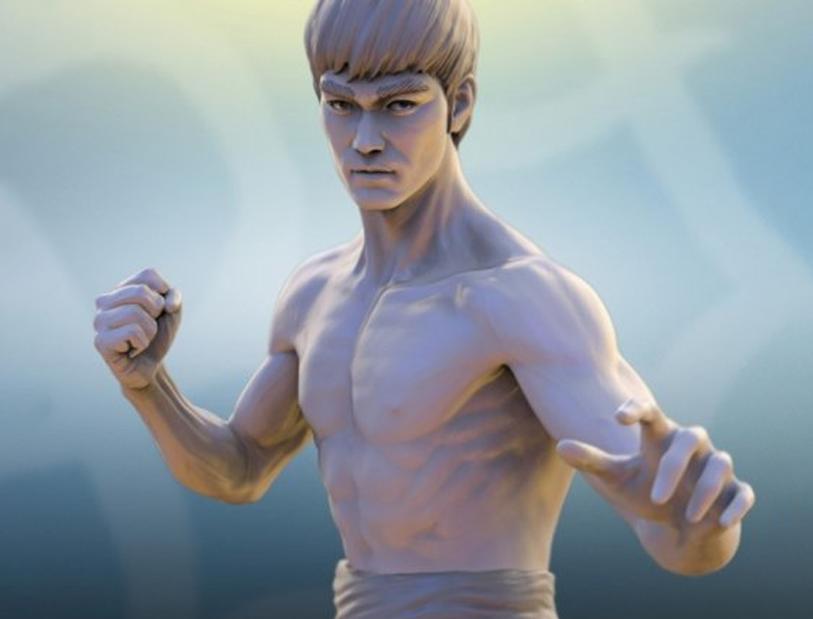 Bruce Lee Dragon Fighter 李小龙人物模型 李小龙雕塑 李小龙蜡像 功夫巨星李小龙
