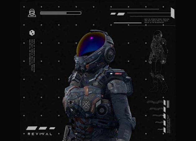 次时代宇航员 复兴宇航服 科幻宇航服 航天服 科幻电影宇航员Revival Space Suit