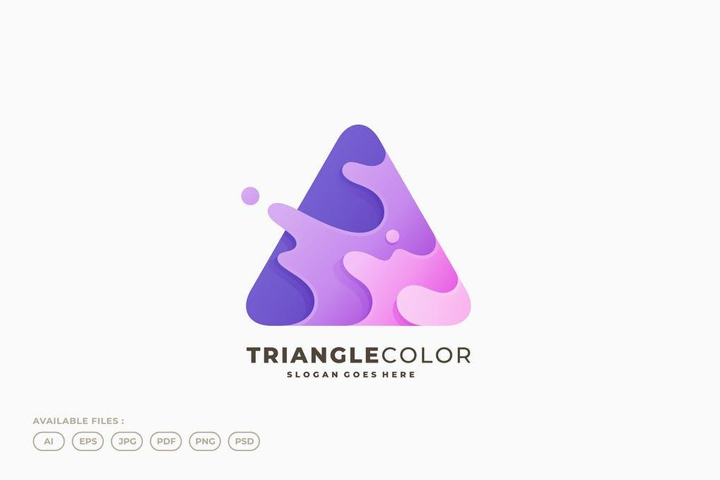 Dreieck-Logo 三角形水滴喷溅logo标志