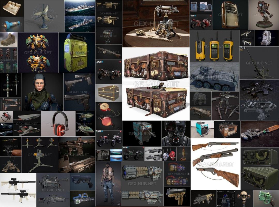 PBR Game 3D-Models Bundle September 2021