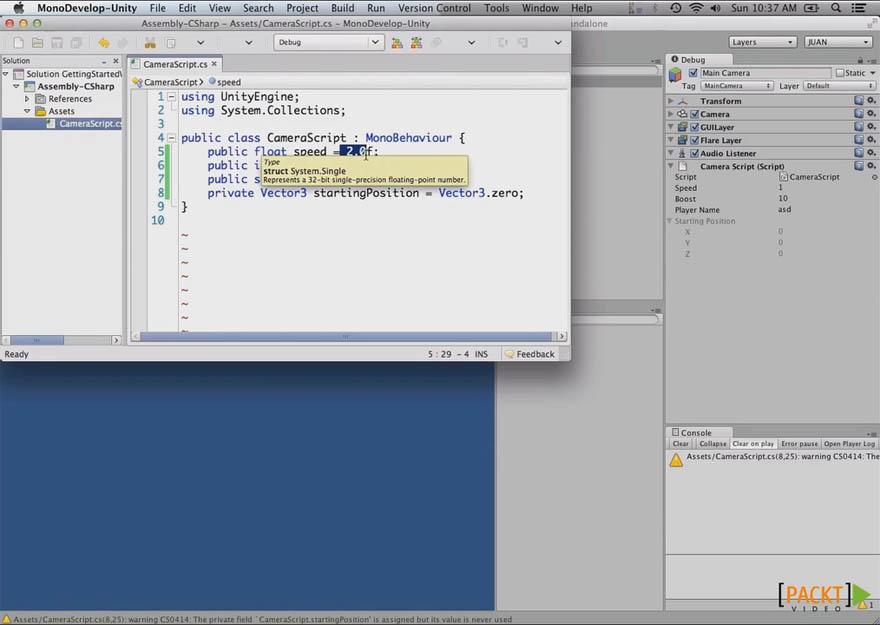 Packt - Unity 4 脚本入门教程