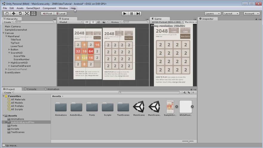 Udemy - 使用 C 语言和 Unity创建一个完整的2048游戏