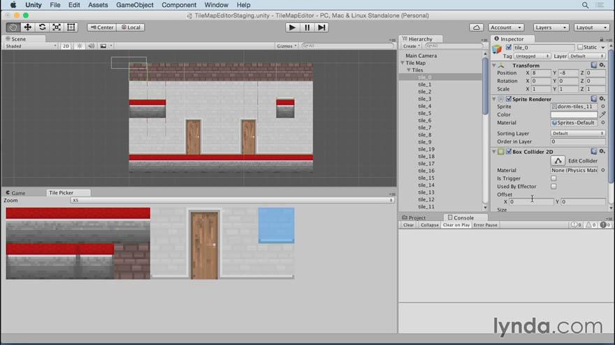 Lynda - Unity 5 2D 构建无缝贴图编辑器