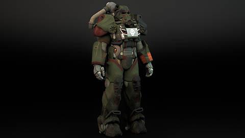 辐射4模型:T60动力装甲,max格式。