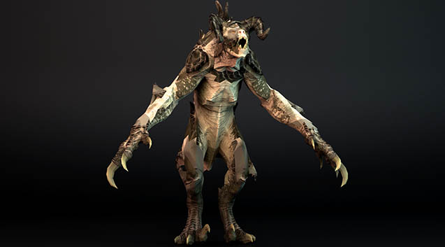 Fallout 4 - Deathclaw 辐射4 死爪模型,max格式。