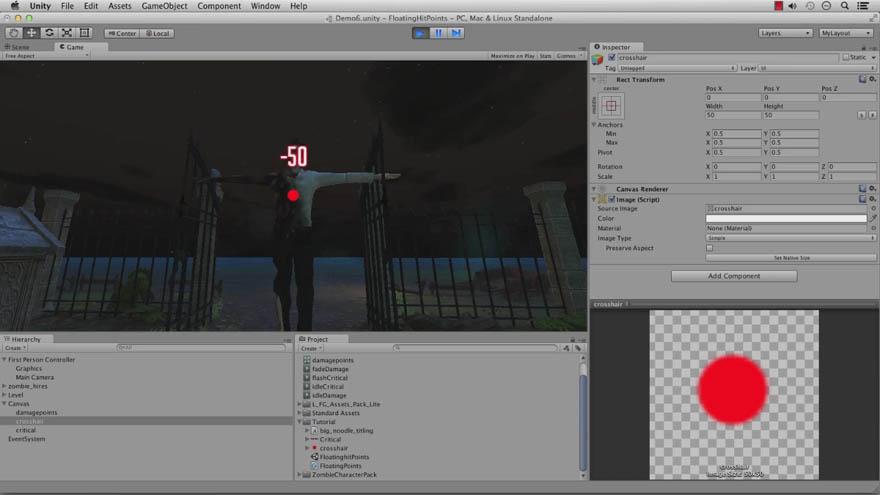 CGCookie - Unity 创建浮点伤害效果教程