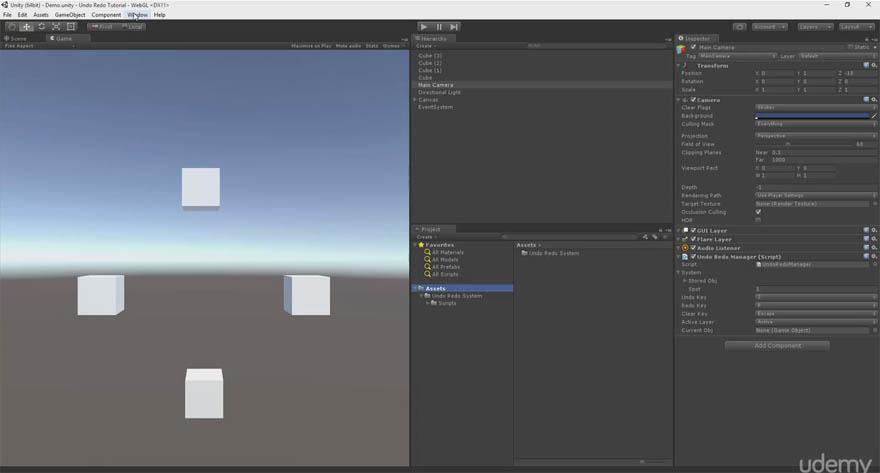 Udemy - Unity 游戏开发:对象类撤销和重做系统