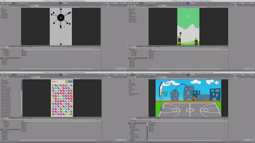 Udemy - Unity 创建6个独立的游戏让你成为专家教程