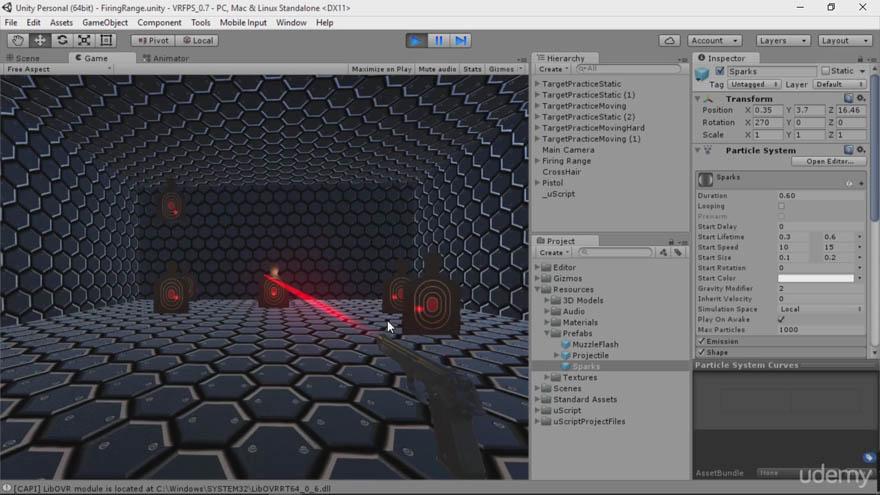Udemy - unity 3d Oculus Rift 游戏开发教程