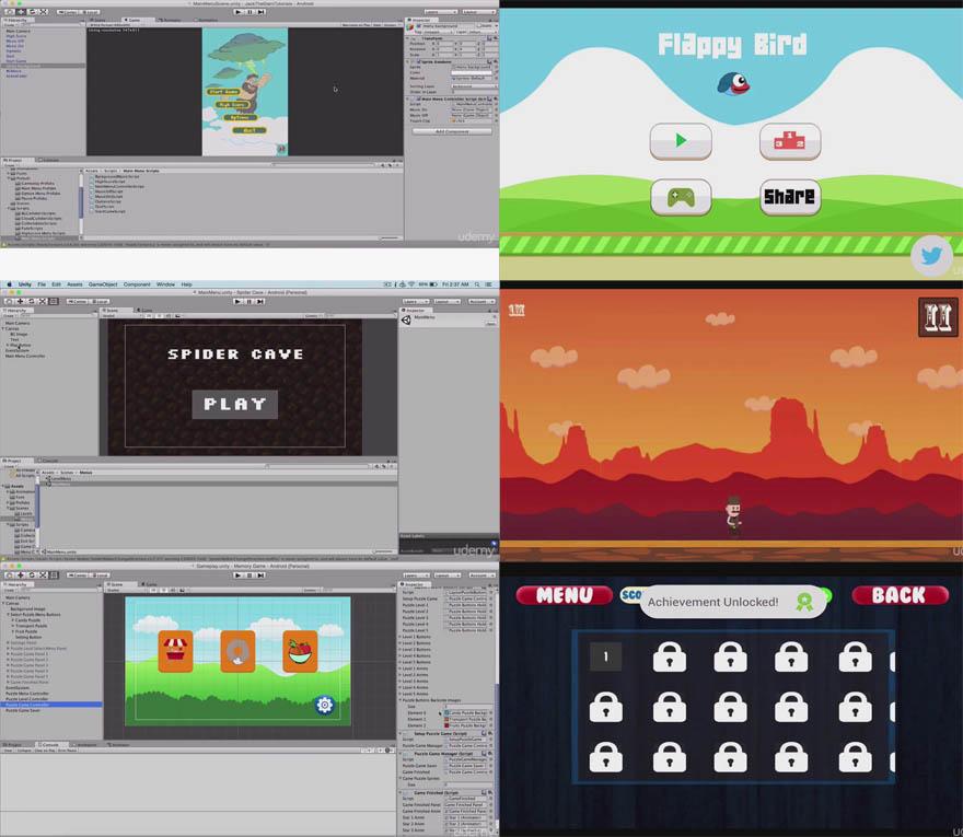 Udemy - 掌握2D游戏,在Unity创建6套全功能游戏