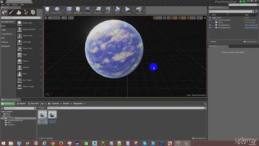 Udemy - 在虚幻4引擎里创建模块化的星球