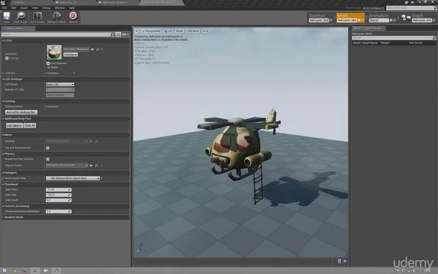 Udemy - 在虚幻4引擎创造一个直升机游戏控制系统