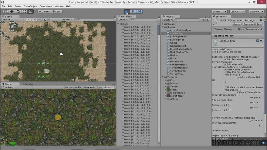 Lynda - Unity 5 2D 游戏的地形程序制作教程