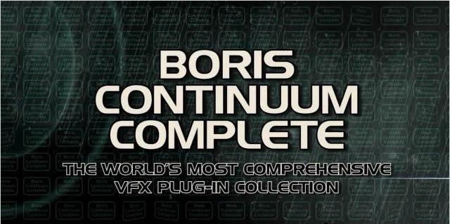 特效插件套件Boris Continuum Complete