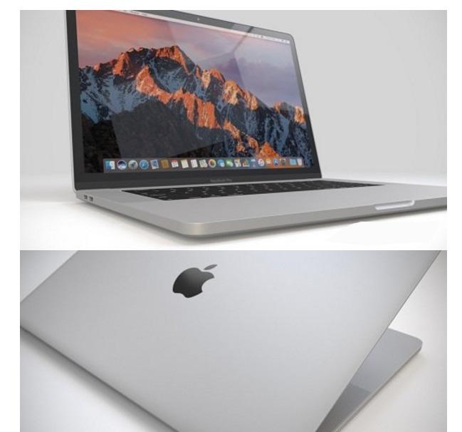 Apple MacBook Pro 3D Model for Cinema 4D