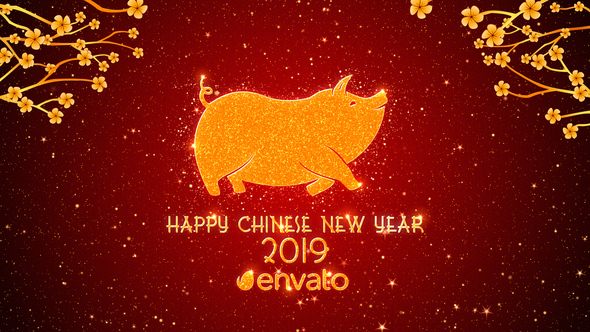 Videohive Chinese New Year Greetings 2019 19340637