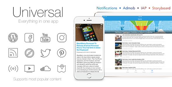 Universal for IOS - Full Multi-Purpose IOS app v3.0.1