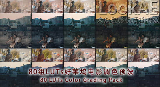 80组LUTs好莱坞电影胶片调色预设 80 LUTs Color Grading Pack