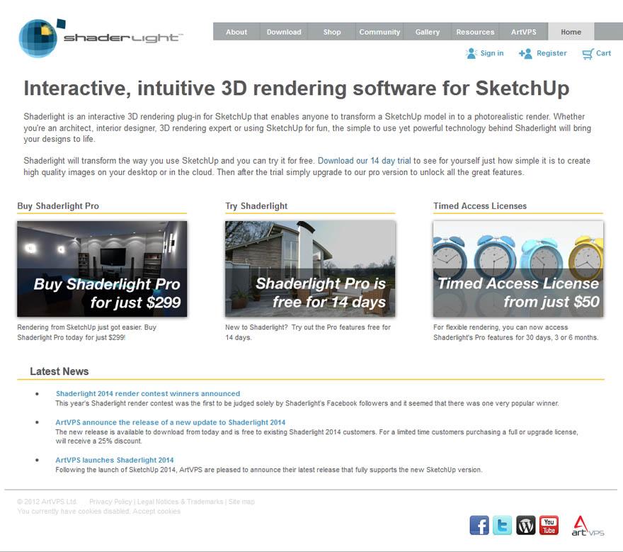 Shaderlight 3.20 SketchUp的互动,直观的3D渲染软件