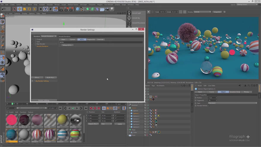 Mographplus - CINEMA 4D的阿诺德全面介绍教程