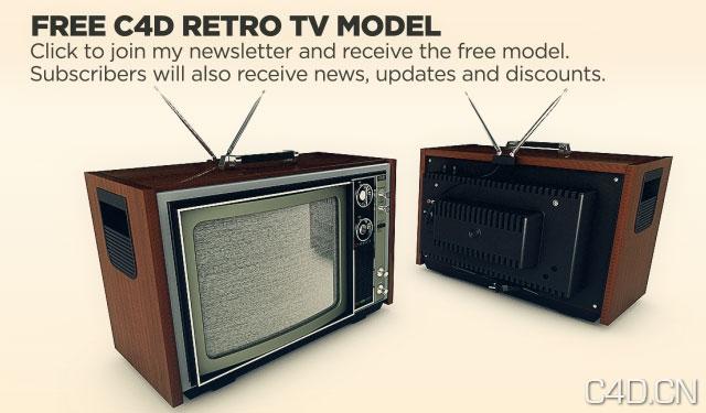 电视机C4D模型 TV Model
