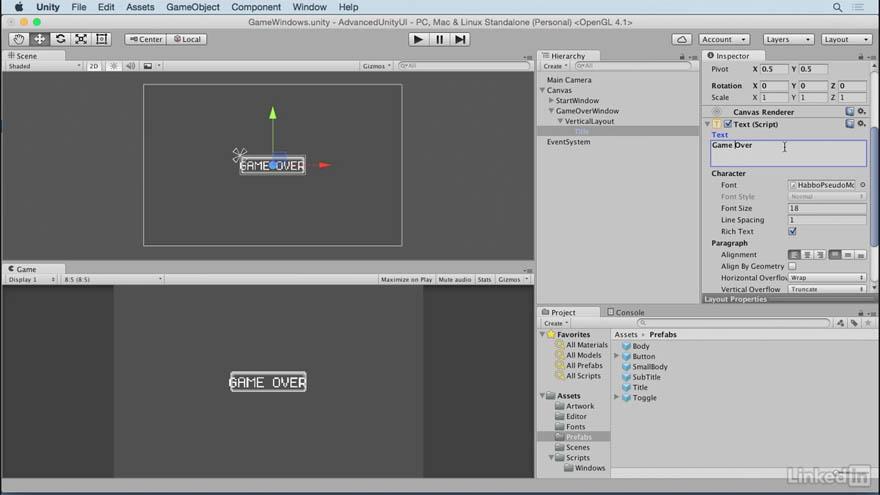 Lynda -  Unity 5 界面制作高级教程
