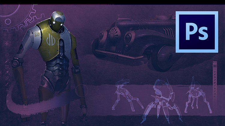 Udemy - Painting Machines: Concept Art Vehicles, Robots & Weapons