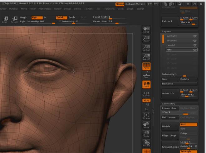 ZBrushWorkshops - 在zbrush里使用扫描数据塑造人脸模型