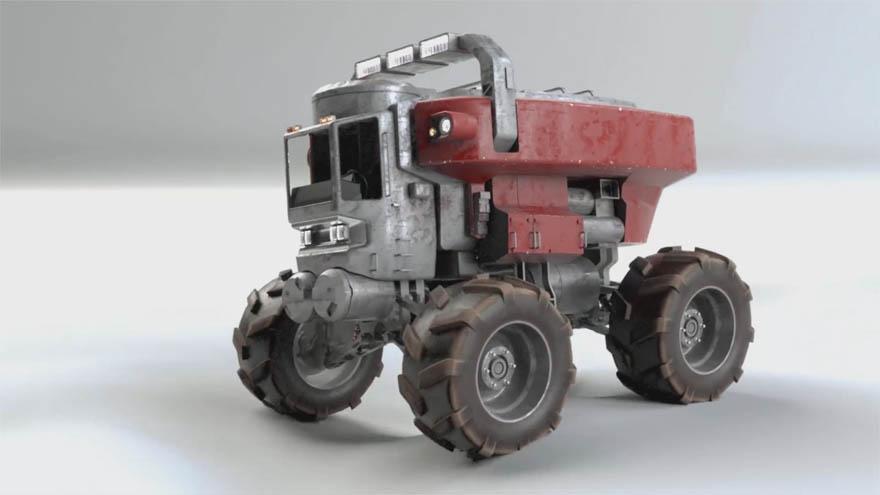 Gumroad - Modo 高级蜘蛛卡车建模动画渲染教程