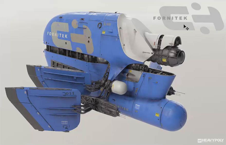 Modo 科幻风格飞船制作教程