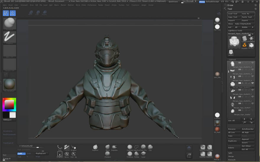 Gumroad - modo和zbrush头盔角色建模教程