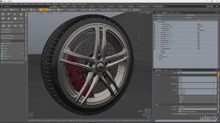 Udemy - MODO 硬表面建模教程