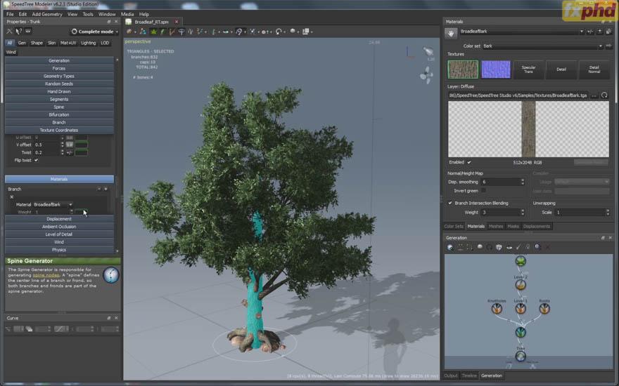fx phd - PNT205 - speedtree 3d植物制作教程