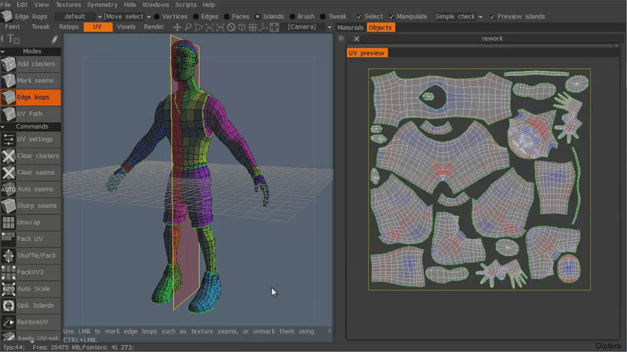 3DMotive - 贴图展开软件 Roadkill,Topogun, 3D-Coat 比较教程