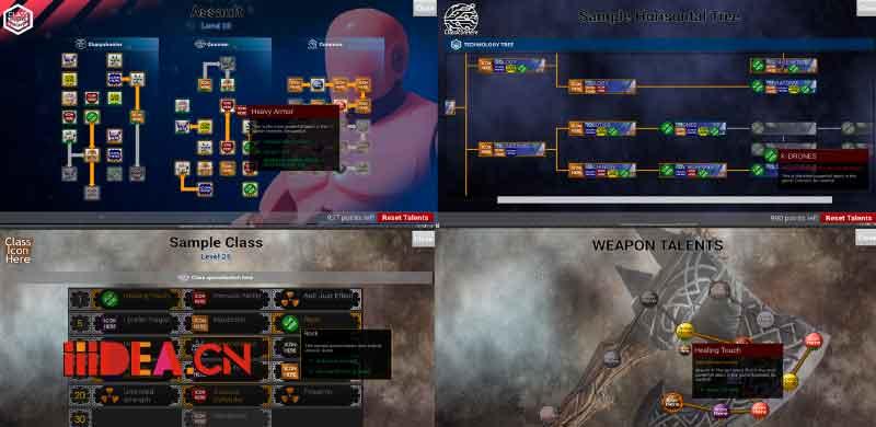 UE4蓝图天赋/技能树系统Talent Tree Builder [2017-08月更新]
