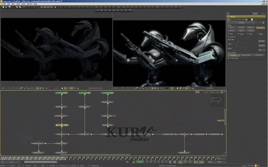 Kurv - 太空堡垒卡拉狄加百夫长的视觉效果,使用软件:lightwave,fusion。