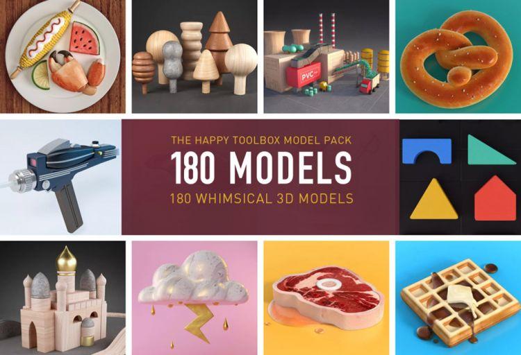 180个C4D单体三维模型包 THT Model Pack Final