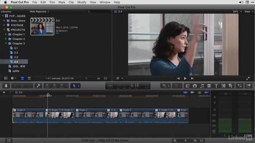 Lynda - Final Cut Pro X 大师教程:高级剪辑