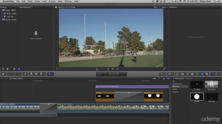Udemy - Photoshop 和 Final Cut Pro X 基础教程