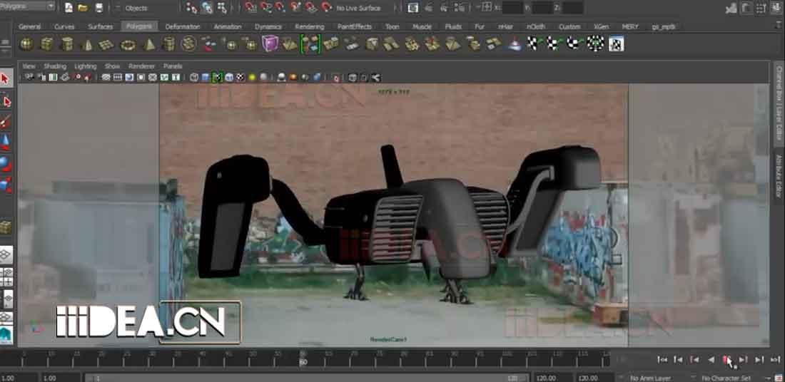 Maya教程:使用Maya内部相机投射,从2D图像创建3D合成场景