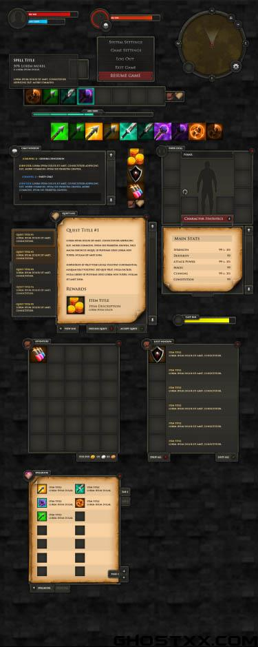 Graphicriver - RPG User Interface+Extras