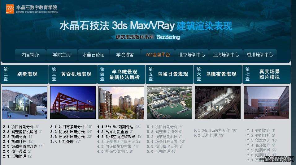 [精品]《水晶石技法 3ds Max+VRay建筑渲染表现》