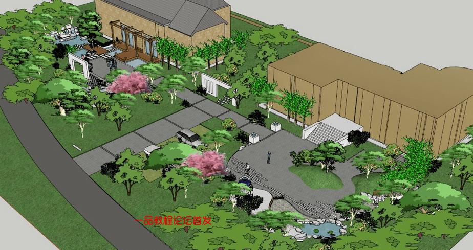 (求加精)sketchup模型 ——80个公园46个广场合计10个G